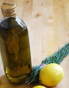 Limon y aceite de oliva