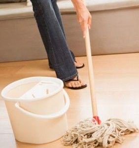 Limpieza de la tarima