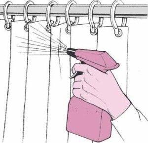 Limpiar cortinas y mamparas