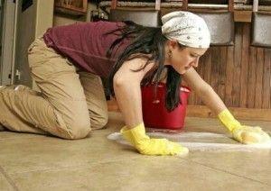Usando limpiador