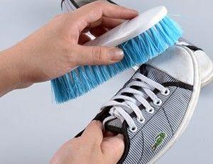 Cepillar zapato de lona